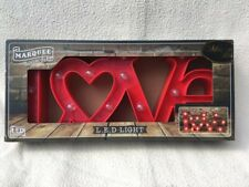 Red 'Love' LED light up sign, boxed, used once to test it.