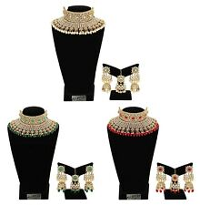 Indian Latest Bollywood Design Kundan Choker Bridal Traditional Necklace Set