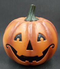 New ListingHalloween Décor Artificial Resin Pumpkin Halloween Face design 8in