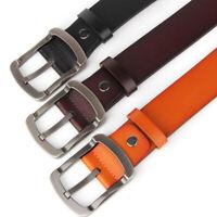 Classic Mens Leather Belt Metal Pin Buckle Waistband Belts Strap Waist Jewelry