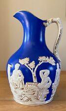 More details for staffordshire portland vase jug mask handle & gilded highlights samuel alcock?