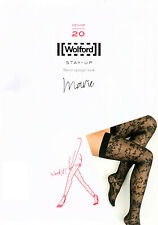 Wolford Marie Stockings Stay Up Sheer Opaque - Black - Medium - RRP £43 - New