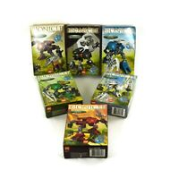 LEGO Bionicle Rahaga Sets 4868 to 4870 & 4877 to 4879 Instruction Pages & Boxes