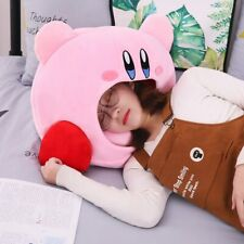 Cartoon Kirby Stuffed Plush Animal Headgear Pillow Nap pillow Baby Birthday Toys