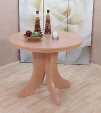 Esstisch Ausziehbar rund Küchentisch Tisch Esszimmertisch Farbe: Buche-Natur