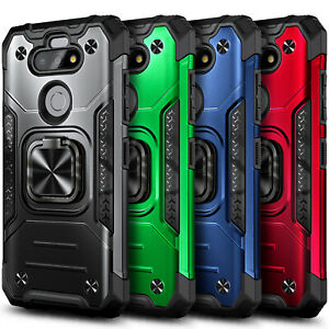 For LG Phoenix 5 / K31 Rebel Case Magnetic Ring Kickstand Cover + Tempered Glass