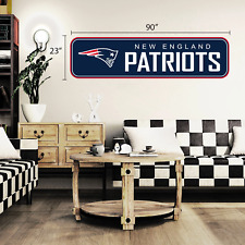 New England Patriots 90x23 Team Repositional Wall Decal - Long Design