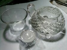 Vintage #17 Avon Turtle Cut Clear Sparkling Glass Votive Candle Tea Lite Holder