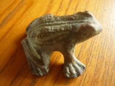 Skulptur Frosch Kröte Bronze Walter Bosse Ära 50er 70er Brass Figur Grasfrosch