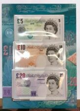 AA01001091 FIRST RUN SET OF LOWTHER BANKNOTES ( £5 IS HA01001091 FIRST RUN) RARE