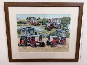 Picture Print Very Rare Celebrates History David Brown Tractors 1/250 A4 Ltd