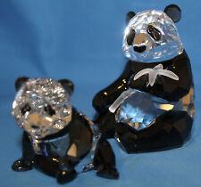 Swarovski Crystal Figurine 900918 ln box Pandas Panda and Cub