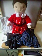 Lot peluche poupée chiffon Asiatique Ikea vêtements robe de Noël