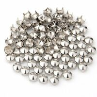 100 Silver Copper Round Cone Rivet Spike Studs Spots DIY 8mm AD