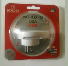 Skross Travel USB Adapter World To USA