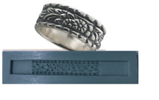 """Silver Clay Jewelry Silicone Ring Mold,  """"Floral Patterned Band Ring """",PMC"""