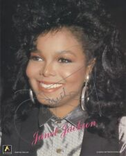 4 Sexy Janet & Michael Jackson Autographed Photos 8x10 Reprints Hand Signed NEW