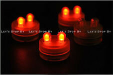 40 RED SUPER Bright Dual LED Tea Light Submersible Floralyte Party Wedding