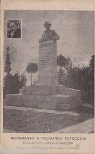 # CIREGLIO: MONUMENTO A POLICARPO PETROCCHI- opera di L. Guazzini