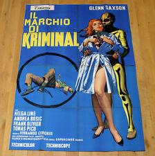 IL MARCHIO DI KRIMINAL manifesto poster Glenn Saxson Helga Liné Fumetto