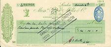 "glynn.mills & co "" holts branch whitehall london "" november2nd 1957"