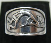 STERLING SILVER RING MEXICAN BAND SOLID 925 KOKOPELLI NEW SIZE J - Z
