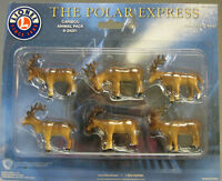 LIONEL POLAR EXPRESS CARIBOU FIGURES train people animals on track deer 6-24251