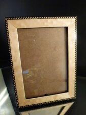 Wood  Photo Frame Black CREAM  Multi Stripe Hand Made Italy  3 3/4 X 5 5/8