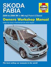 Skoda Fabia Petrol Diesel 00-06 Haynes Manual H4376