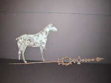 ANTIQUE AMERICAN FOLK ART HORSE COPPER WEATHERVANE GUN BULLETS ARTISTIC PATINA