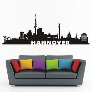 WANDTATTOO Wandaufkleber Stadt Wandsticker Skyline Hannover Wohnzimmer WT 591