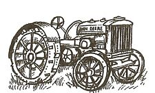 Country Tractor Small Wood Mounted Rubber Stamp NORTHWOODS C10262 New