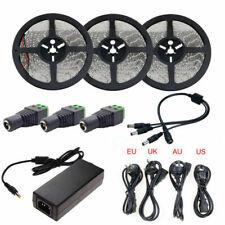 LED Strip Light SMD 2835 5M 10M 15M Waterproof Tape Ribbon+ 2A/3A/5A Adapter 12V