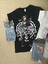 Justin Bieber Women's Retro XLarge Short Sleeve T-shirts white ,Brand New