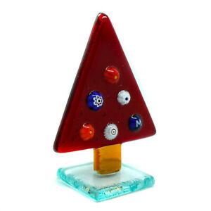 Murano Glass Christmas Xmas Decoration Red Multi Tree Stand Millefiori