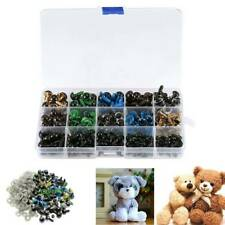 264PCS Plastic Safety Eyes 6-12mm Colorful Teddy Bear Doll Crafts Toy Making US