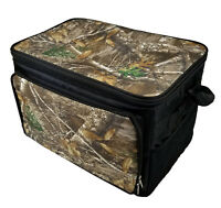 Camouflage Thermal Lunch Box Bag 30 Can Cooler Size Insulated w/Plastic Liner