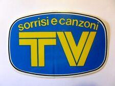 VECCHIO ADESIVO ORIGINALE / Old Sticker SORRISI E CANZONI TV (cm 18 x 12)