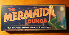 Mermaid Lounge Tiki Beach Bar Sign Block Shelf Home Decor Cast Away Your Trouble