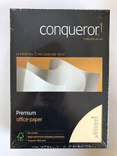 Conqueror Paper A4 / 100gsm (Choose different colours / finishes) 500 Sheets