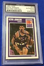 5eca1d4817d1 Kevin Johnson Phoenix Suns 1989 Fleer Rookie Card Autographed PSA DNA Mint