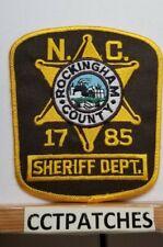 ROCKINGHAM COUNTY, NORTH CAROLINA SHERIFF (POLICE) SHOULDER PATCH NC