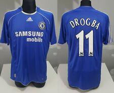 Chelsea London 2006 2008 Home DROGBA football shirt soccer jersey Adidas L men