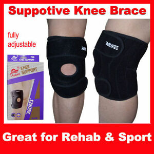 2*NEW NEOPRENE KNEE SUPPORT BRACE with SPRING STABILIZER Neoprene Sports Rehab