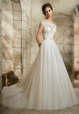 New White/Ivory Bridal Gown Wedding Dress Custom Size 6 8 10 12 14 16 18+