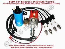 High-Power VW SVDA Distributor Combo: Distributor Coil Wires Plugs: Bug Bus Ghia