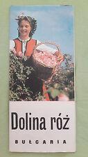 altes Reise Prospekt Balkantourist Dolina róż / Bulgaria, um 1970 (polnisch)