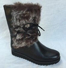 Clarks Wedge Mid-Calf 100% Leather Boots for Women