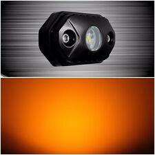 2pc LED Rock Light Amber 9 Watt 495 Lumen LED Rock Crawler Light Aurora LED