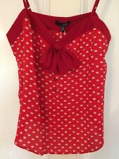 Ladakh red polka dot bow top - new - size 10